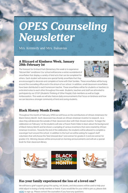 OPES Counseling Newsletter
