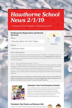 Hawthorne School News 2/1/19