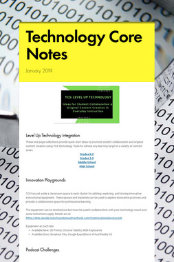 Technology Core Notes