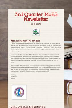 3rd Quarter MoES Newsletter