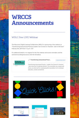 WRCCS Announcements