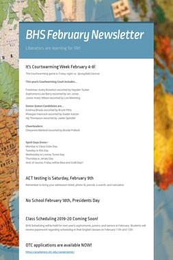 BHS February Newsletter