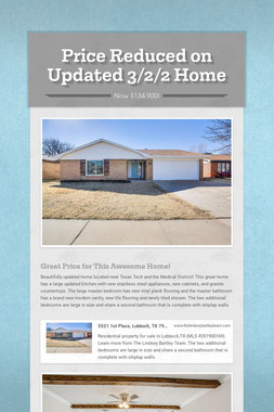 Price Reduced on Updated 3/2/2 Home