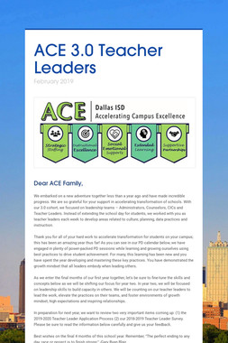 ACE 3.0 Teacher Leaders