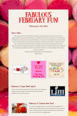 FABULOUS FEBRUARY FUN!