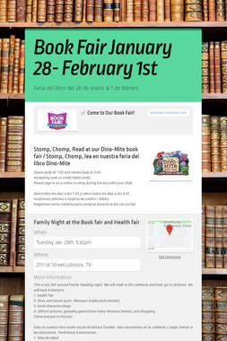 Book Fair January 28- February 1st