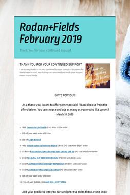 Rodan+Fields February 2019