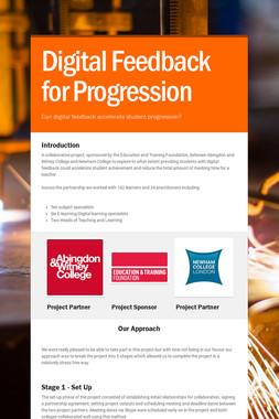 Digital Feedback for Progression