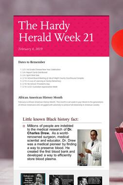 The Hardy Herald Week 21