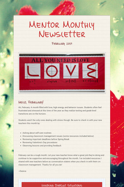 Mentor Monthly Newsletter