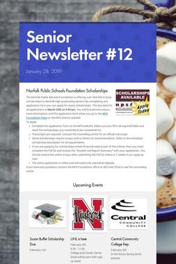 Senior Newsletter #12