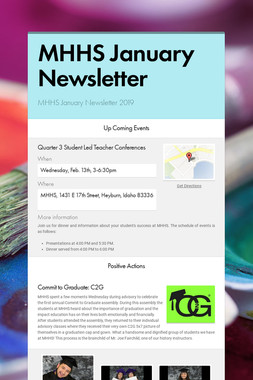 MHHS January Newsletter