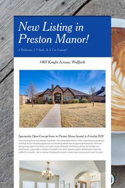 New Listing in Preston Manor!