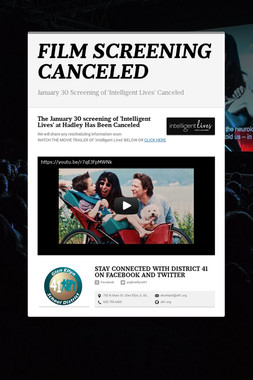 FILM SCREENING CANCELED