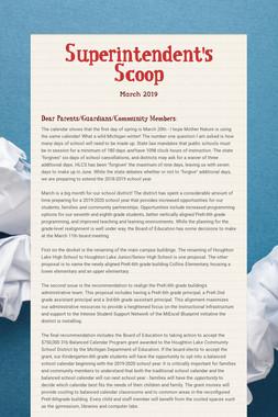 Superintendent's Scoop