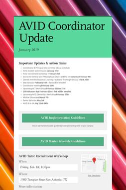 AVID Coordinator Update
