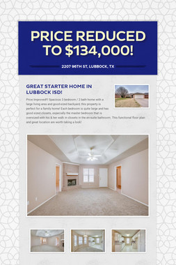 Price Reduced to $134,000!
