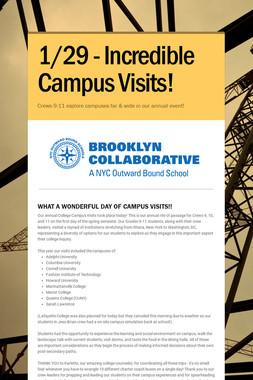 1/29 - Incredible Campus Visits!