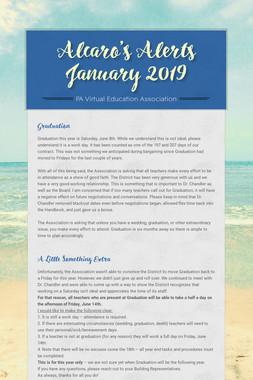Alcaro's Alerts January 2019