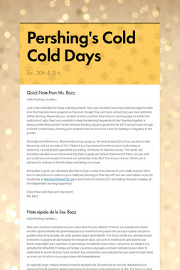 Pershing's Cold Cold Days