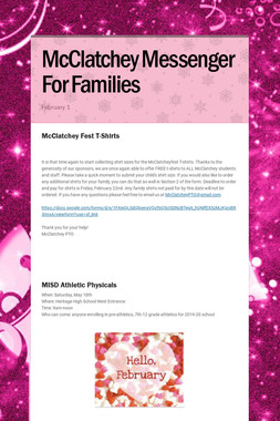 McClatchey Messenger For Families