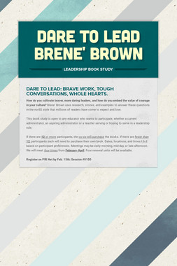 Dare to Lead Brene' Brown