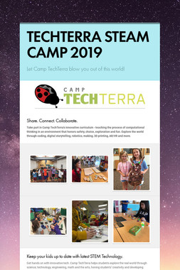 TECHTERRA STEAM CAMP 2019