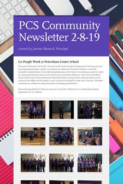 PCS Community Newsletter 2-8-19