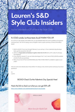 Lauren's S&D Style Club Insiders