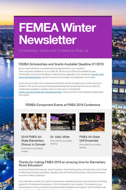 FEMEA Winter Newsletter