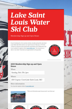 Lake Saint Louis Water Ski Club