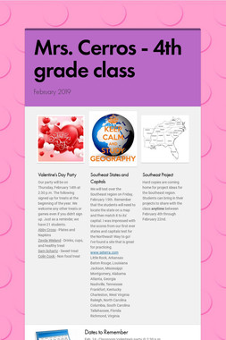 Mrs. Cerros - 4th grade class