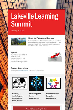 Lakeville           Learning Summit