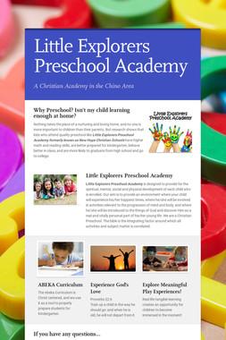 Little Explorers Preschool Academy