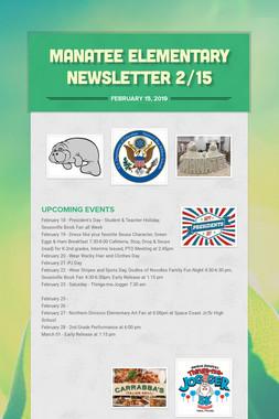 Manatee Elementary Newsletter  2/15