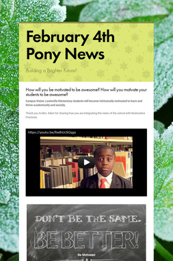 February  4th Pony News