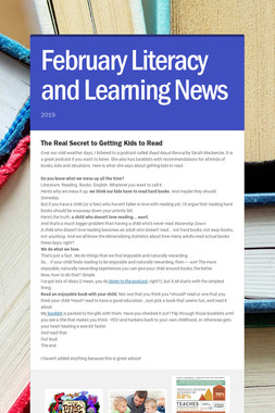 February Literacy and Learning News