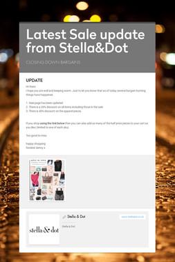 Latest Sale update from Stella&Dot
