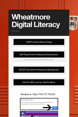 Wheatmore Digital Literacy