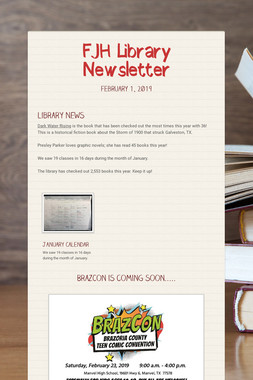 FJH Library Newsletter