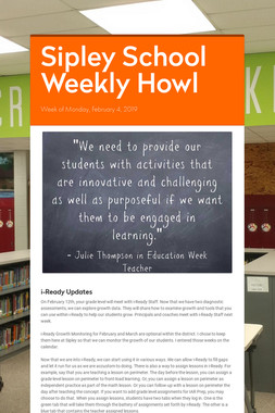 Sipley School Weekly Howl