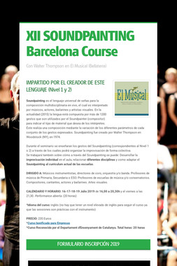 XII SOUNDPAINTING Barcelona Course