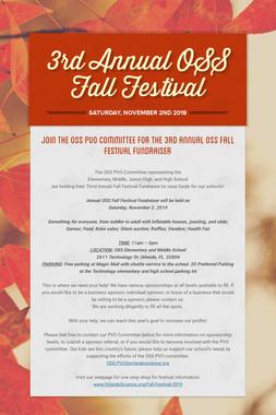 3rd Annual OSS Fall Festival