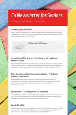 C3 Newsletter for Seniors