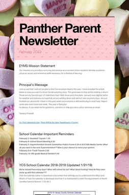 Panther Parent Newsletter