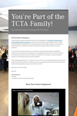 You're Part of the TCTA Family!