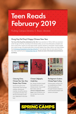 Teen Reads February  2019