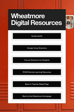 Wheatmore Teacher Resources