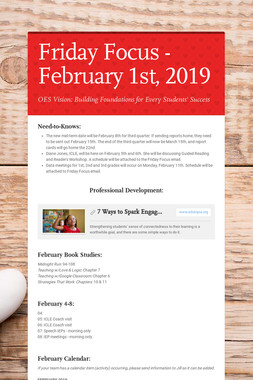 Friday Focus - February 1st, 2019