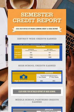 Semester Credit Report